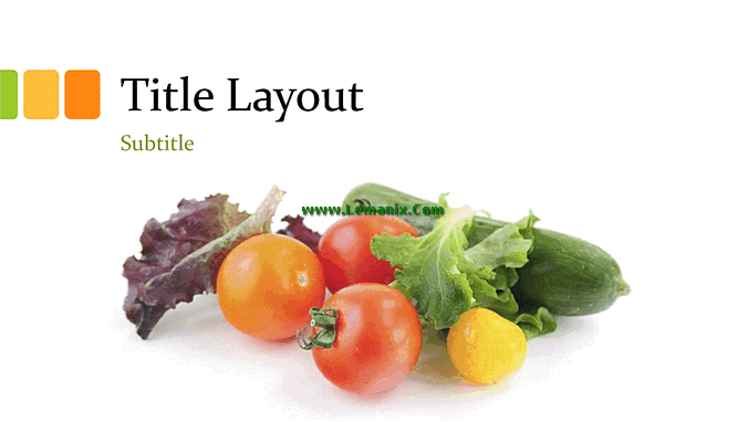 Fresh Vegetables And Fruits Powerpoint Themes