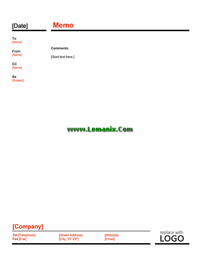 Business Memo Template Word In Red And Black Theme