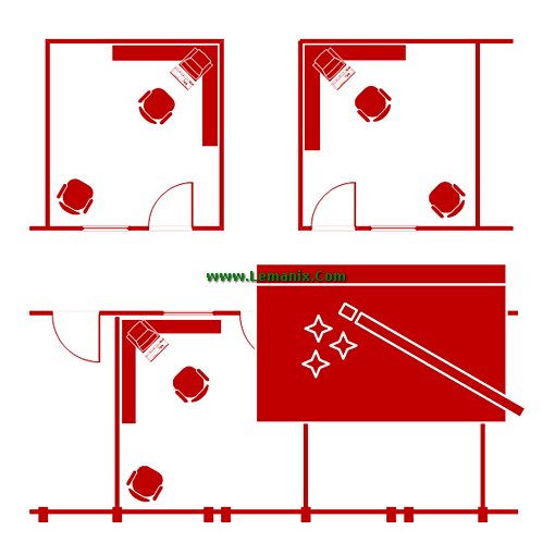 Visio Shapes Space Plan Stencils