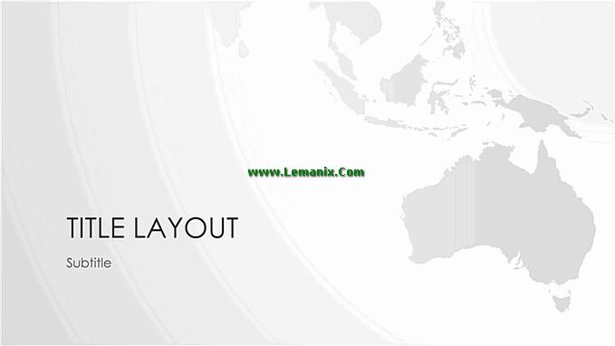 World Maps Australian Series Powerpoint Themes