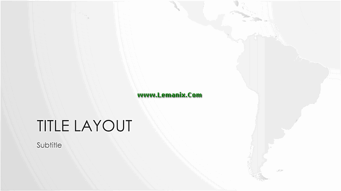 World Maps South American Series Powerpoint Themes Free