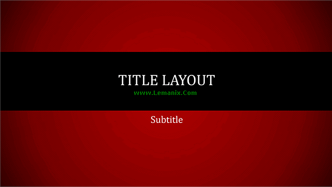 Red Lines Powerpoint Themes Presentation