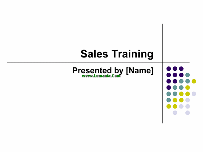 Sales Training Powerpoint Themes Presentation