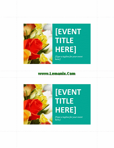 Postcard Template Word For Promotional Or Commercial