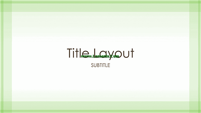 Green Border Powerpoint Themes