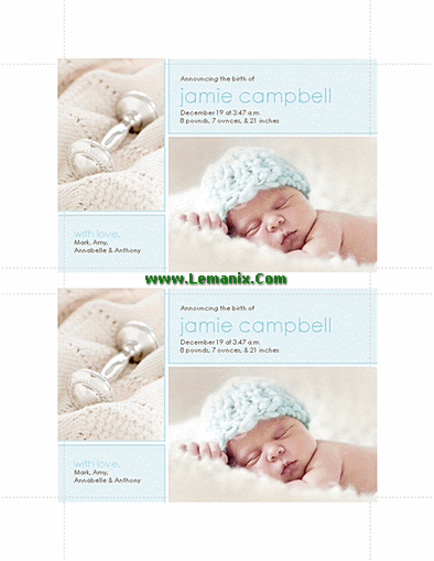 Birth Announcements Microsoft Publisher Templates