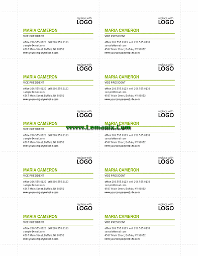 Modern Business Cards Microsoft Publisher Templates