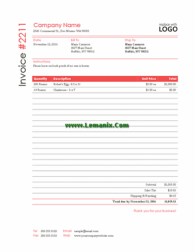 Sales Invoice Microsoft Publisher Templates