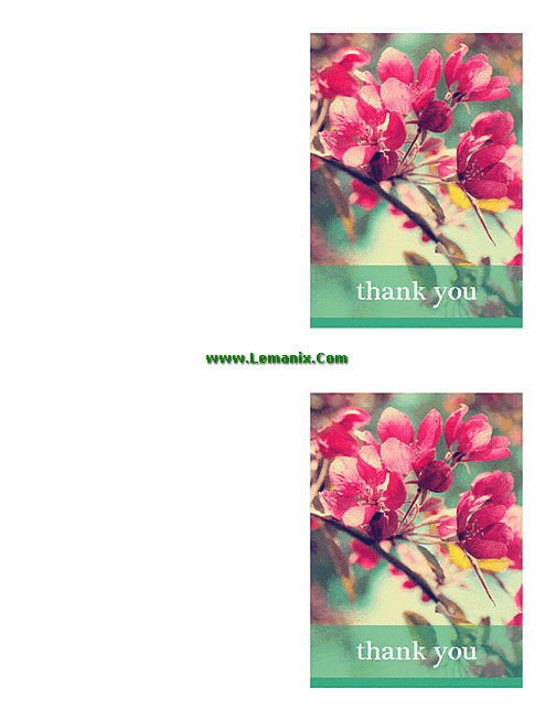 Free Thank You Cards For Microsoft Publisher Templates