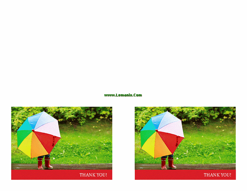 Thank You Cards Umbrella Themes Microsoft Publisher Templates