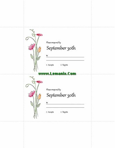 Wedding Rsvp Cards Microsoft Publisher Templates