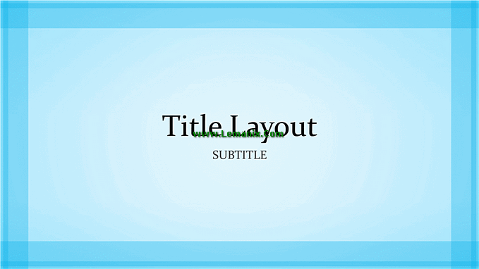 Blue Border Powerpoint Themes