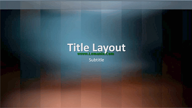 Vertical Lexicon Powerpoint Themes