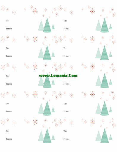 Gift Labels Microsoft Publisher Templates