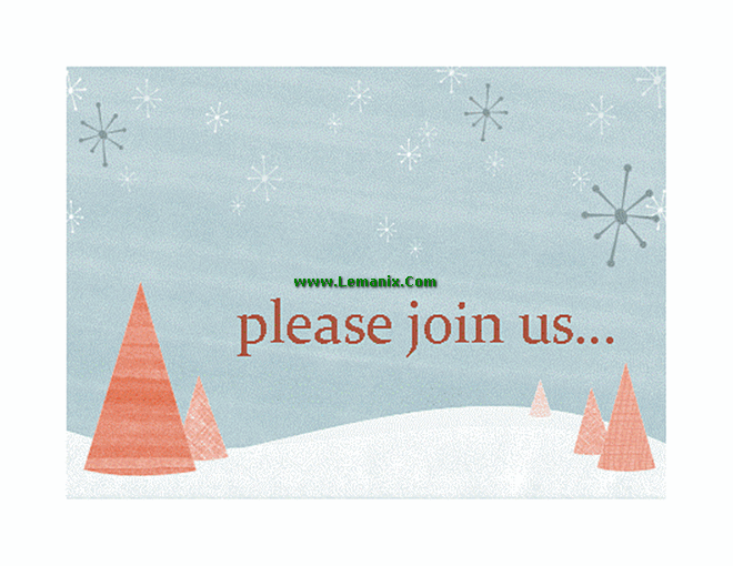 Winter Holiday Event Invitation Microsoft Publisher Templates