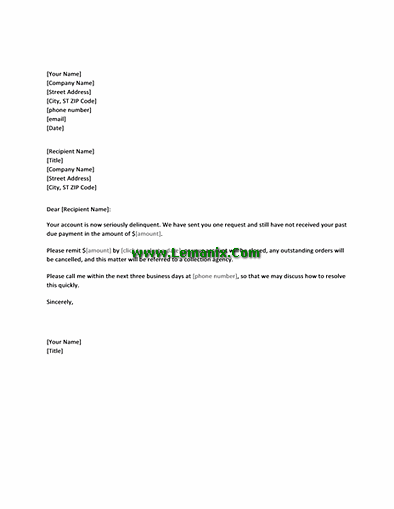 Final Request Letter Templates For Overdue Payment
