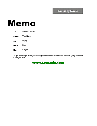 Interoffice Company Memo Template Word