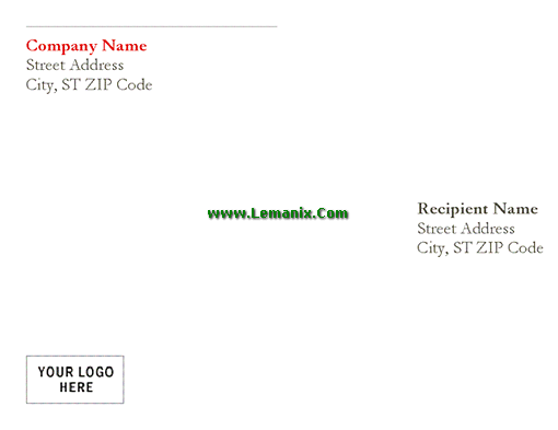 Envelope Template Word In Red Design