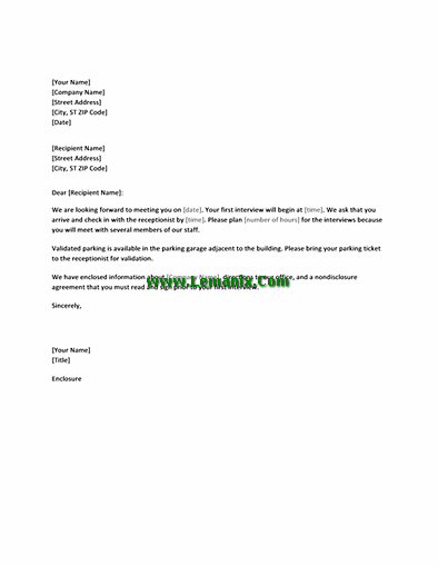 Coonfirmation Letter Templates For Candidates Job Interview