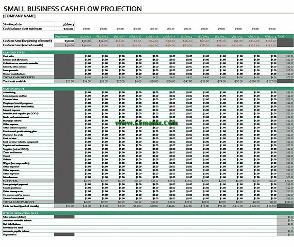 Microsoft Excel Templates Cash Flow Forecast