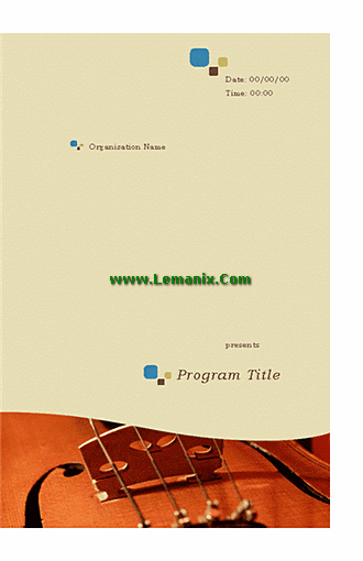 Music Program Microsoft Publisher Templates