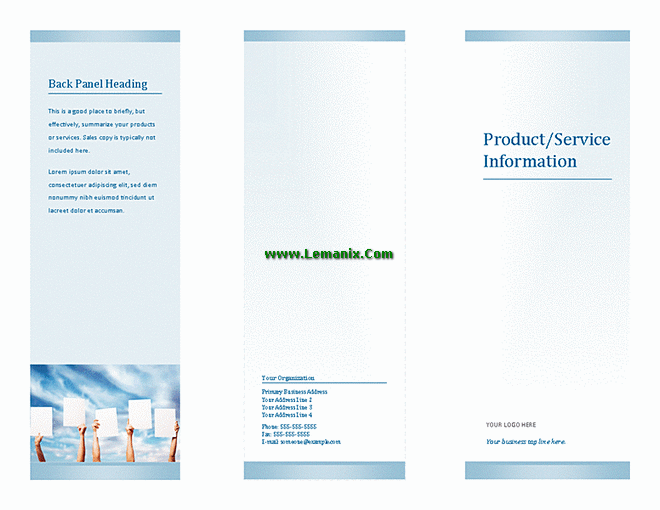 Microsoft Publisher Templates Tri-fold Brochure For Business
