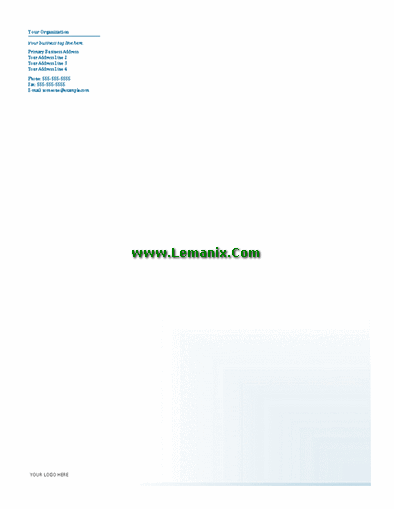 Business Letterhead Microsoft Publisher Templates