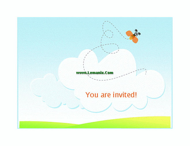 Summer Barbeque Invitation Microsoft Publisher Templates