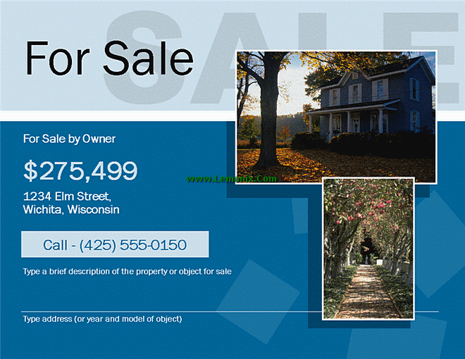 For Sale By Owner Flyer Free Publisher Templates