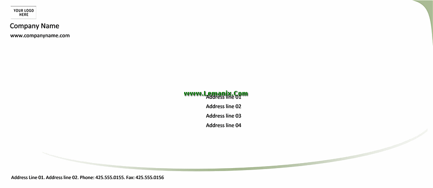 Envelope Template Word In Green Design
