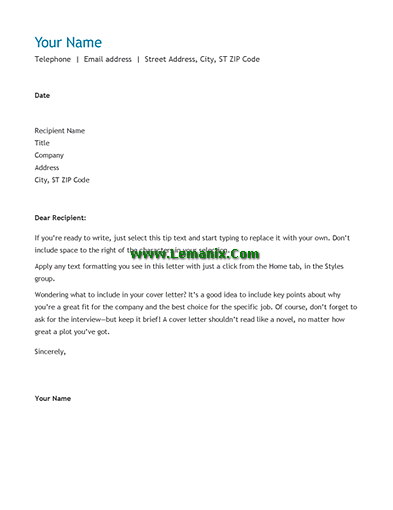 Chronological Resume Cover Letter Templates