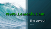 Ocean Waves Powerpoint Themes