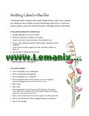 Wedding Checklist Microsoft Publisher Templates