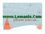 Winter Holiday Event Invitation Microsoft Publisher Templates