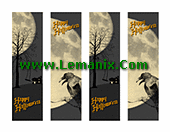 Halloween Bookmarks Microsoft Publisher Templates