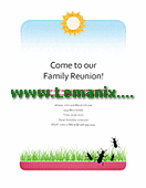 Family Reunion Flyer Microsoft Publisher Templates