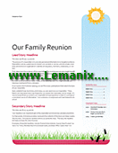 Family Reunion Newsletter Publisher Templates