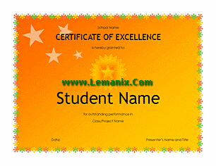 High School Student Award Microsoft Publisher Templates