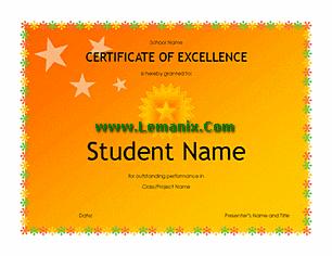High School Student Award Microsoft Publisher Templates
