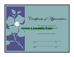 Certificate Of Appreciation Microsoft Publisher Templates