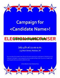Free Publisher Templates Political Fundraiser Event Flyer