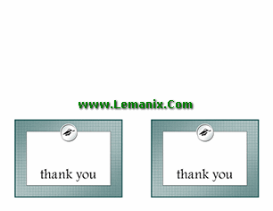 Graduation Thank You Cards Free Publisher Templates