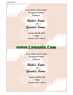 Bridal Shower Invitations Publisher Templates