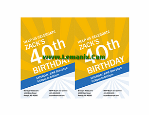 Birthday Invitation Powerpoint Themes