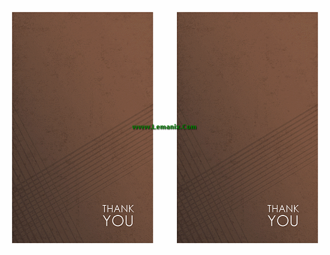 Brown Thank You Cards Microsoft Publisher Templates