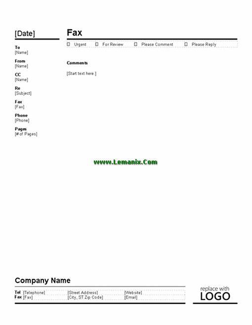 fax cover sheets microsoft