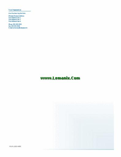 Business Letterhead Microsoft Publisher Templates