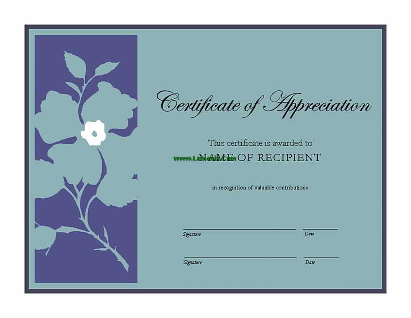 certificate of appreciation template publisher certificate of appreciation microsoft publisher templates