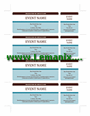 Event Tickets Microsoft Publisher Templates