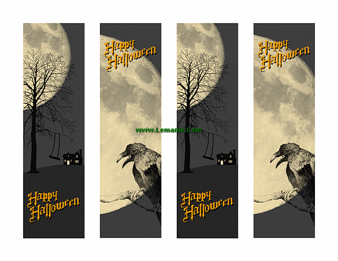 bookmarks templates for publisher - halloween bookmarks microsoft publisher templates for